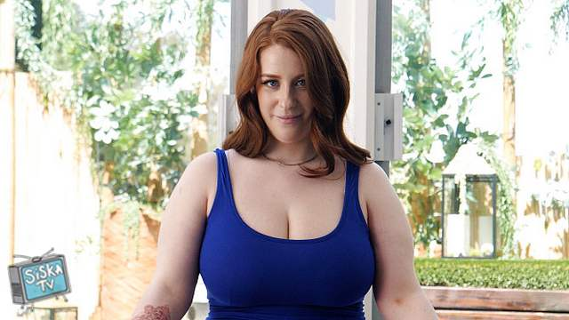Bailey - Curvy redhead with giant natural tits