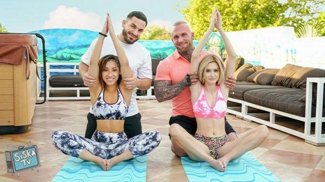 Kira Perez, Alicia Williams - Yoga Stepdaddy Swap